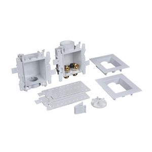 Oatey Moda™ 3-63/100 x 13-24/25 x 8-23/50 in. Washing Machine Push Connect Quarter-Turn Fire Rated Supply Box O37356