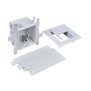 Oatey Moda™ 3-63/100 x 7-49/50 x 8-23/50 in. Dishwasher or Toilet Push Connect Quarter-Turn Fire Rated Supply Box O37426