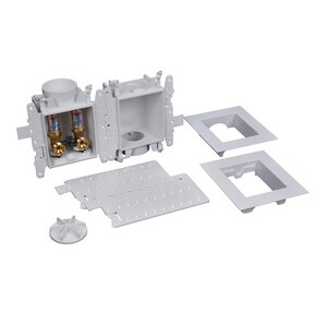 Oatey Moda™ 3-63/100 x 13-24/25 x 8-23/50 in. Washing Machine F2159 PPSU Quarter-Turn Fire Rated Supply Box O37359