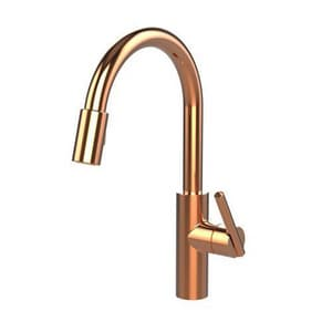 Newport Brass East Linear Single Handle Pull Down Kitchen Faucet in Polished Copper N1500-5103/08
