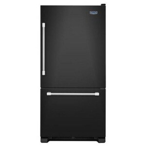 Maytag 29-3/4 in. 18.7 cf Right Hand Bottom Freezer Refrigerator in Black MMBF1958DEE