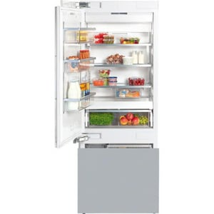 Miele Appliances 29-3/4 x 84 in. 15.29 cf Built-in Bottom Mount Freezer Refrigerator with Left Hinge in Stainless Steel MKF1813SFSS
