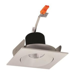 Nora Lighting NIO-4 Series 4-93/100 in. 3000K Adjustable Square Regressed Cone Trim NNIO4SC30X