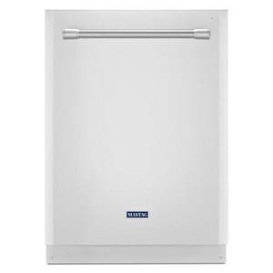 Maytag 23-7/8 in. 50dB 5-Cycle Built-In Undercounter Dishwasher with 14-Place Setting in White MMDB5969SDH