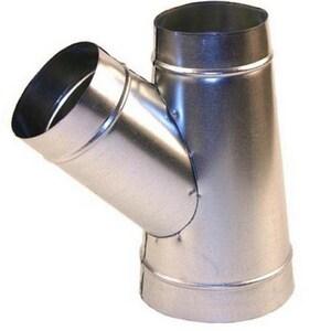 4 in. x 4 in. x 4 in. 26 ga Galvanized Steel Tee Wye SHMTY26PPP