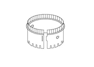 Air Duct Products 10 x 5 in. Galvanized Steel Starting Collar in Round Duct A525010