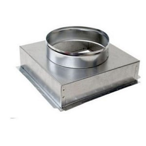 4 x 18 x 18 in. 28 ga Duct Square-To-Round SHMCB28181812PG