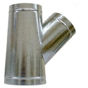 20 in. x 20 in. x 12 in. 26 ga Galvanized Steel Tee Wye SHMTYS26202012