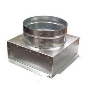 12 x 6 x 8 in. Duct Square-To-Round SHMFB3012UXS