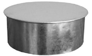 Champion Manufacturing 7 x 6 in. 24 ga No Crimp Cleanout Cap CHA3168