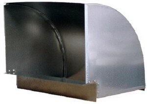 Champion Manufacturing 8 x 10 in. Vertical 90 Degree Elbow with 2 x 2 in. Throat CHA6330