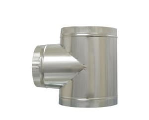 Cody Company 4 in. Duct Tee with Crimp COD825PPP