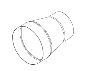 Crown Products 24 in. x 20 in. 26 ga Galvanized No-Crimp Duct Reducer CR2652420