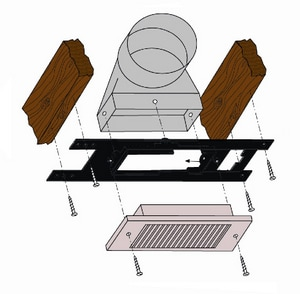 Paramount Concepts 6 in. Wide Register Frame PH6