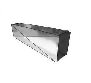 Royal Metal Products 18 x 10 x 48 in. 26 ga Galvanized Steel Rectangular Duct Pipe R402X101848