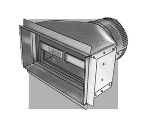 Royal Metal Products 8 in. Non-Insulated Radiation Damper Boot R243FRD8128