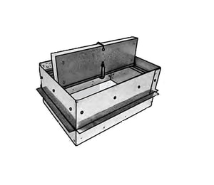 Royal Metal Products 4 x 8 in. Ceiling Radiation Damper R557RD84