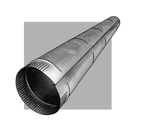 Royal Metal Products 4 ft. x 6 in. 26 ga Stainless Steel Pipe R101S