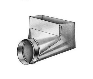 Royal Metal Products 4 x 10 x 7 in. 90 Degree Boot Type-B Galvanized Steel 30 ga R243D4107