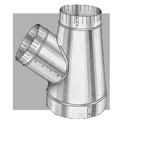 Royal Metal Products 6 in. x 5 in. x 3 in. 30 ga Galvanized Steel Stub Wye R276653