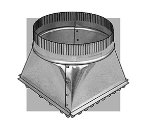 Royal Metal Products Model No. 309SDGRQ27 6 in. Duct Round Takeoff Galvanized Steel Round to Rectangular R309SDGRQ26SR