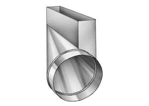 2-1/4 x 10 x 6 in. Right Galvanized Steel End Boot SHMRERBK10U