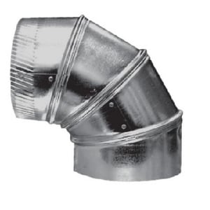 12 in. 26 ga 90 Degree Straight Duct Elbow S302ST1226