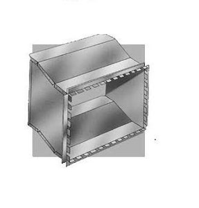 Royal Metal Products 8 x 12 in. 26 ga Offset Collar R4098
