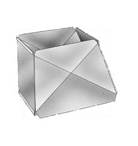 Royal Metal Products 12 in. x 10 in. - 10 in. x 10 in. 28 ga Galvanized Trunk Duct Reducer SHMTDR12101010