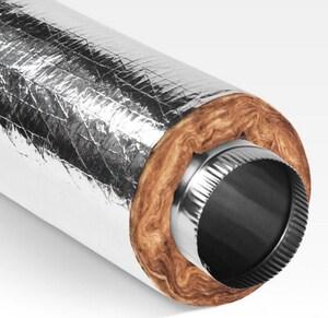 Quietflex Manufacturing Quietflex® 11-1/3 in. R6 Duct Sleeve 5 ft. Plastic QSS1260