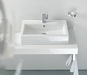 Duravit Vero Self-rimming/Drop-in Bathroom Sink in White Alpin D04525000001