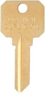 Kaba Ilco 6-Pin Schlage Key Blank in Polished Nickel (50 per Box) IDNDSC4