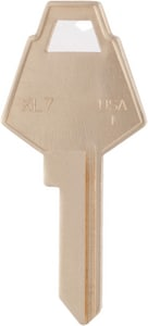 Kaba Ilco Brass XL Size Mail Box Key (50 per Box) IXL7BR