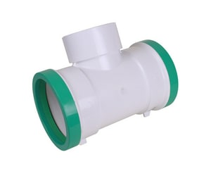 Multi-Fittings Corporation 8 x 8 x 6 in. Gasket x DWV Hub Reducing and DWV SDR 35 PVC Sewer Tee MUL043555