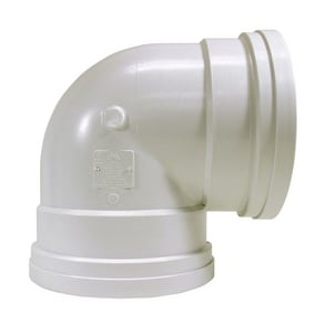 Multi-Fittings Corporation Trench Tough Plus™ 8 in. Gasket Sewer Straight SDR 35 PVC 90 Degree Elbow MUL063217