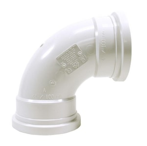 Multi-Fittings Corporation Trench Tough Plus™ 4 in. Gasket Sewer Long Turn Straight SDR 35 PVC 90 Degree Elbow MUL063214