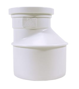 Trench Tough Plus™ 6 x 4 in. Spigot x Gasket Reducing and Eccentric Increaser PVC Bushing MUL0432