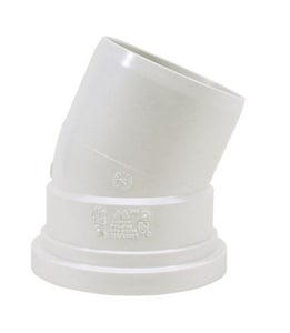Multi-Fittings Corporation Trench Tough Plus™ 4 in. Spigot x Gasket SDR 35 PVC 45 Degree Elbow MUL063404