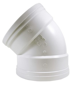 21 in. Gasket Straight DR 35 PVC 45 Degree Elbow MUL043957