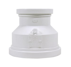 Multi-Fittings Corporation Trench Tough Plus™ 6 x 4 in. Gasket Reducing SDR 35 PVC Coupling MUL043882