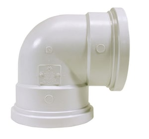 Multi-Fittings Corporation Trench Tough Plus™ 6 in. Gasket Sewer Straight SDR 35 PVC 90 Degree Elbow MUL063216