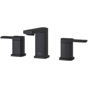 Pfister Deckard™ Two Handle Widespread Bathroom Sink Faucet in Matte Black PLG49DA0B