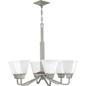 Progress Lighting Clifton Heights Collection 100W 6-Light Medium Chandelier in Brushed Nickel PP400119009