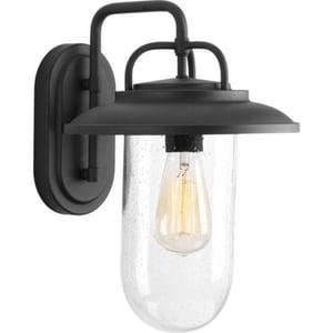 Progress Lighting Beaufort 10 x 14-3/8 in. 100W 1-Light Medium E-26 Incandescent Outdoor Wall Sconce in Black PP560050031