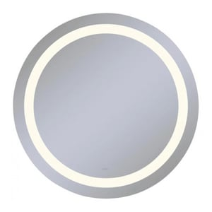 Vitality 30 in. 2700K Anodized Aluminum Frameless Round Mirror with Light Inset RYM0030CIFPD