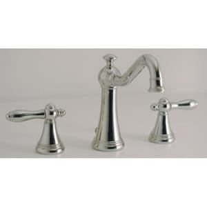Santec Widespread Lavatory Faucet with Double Lever Handle in Polished Chrome S4420CO