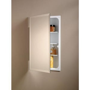 Jensen Perfect Square 26 in. Recessed Mount Medicine Cabinet in Basic White R823P24WH