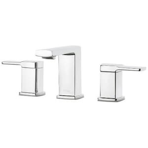Pfister Deckard™ 1.2 gpm 3-Hole Deck Mount Widespread Lavatory Faucet with Double Lever Handle and Fixed Spout PLG49DA0