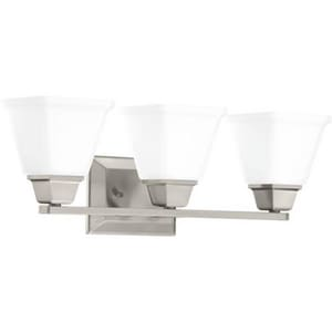 Progress Lighting Clifton Heights Collection 100W 3-Light Medium Bath Bracket in Brushed Nickel PP300160
