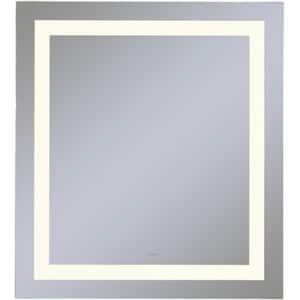 Vitality 30 x 30 in. 4000K Anodized Aluminum Frameless Rectangle Mirror with Light Inset RYM3030RIFPD4